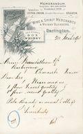 Royaume-Uni - Darlington - 1894 - T.Pease.Son & Co,Wine & Spirit Merchants & Wisky Blenders - Alcohols