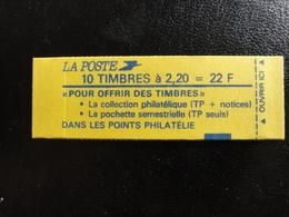 Liberté De Delacroix - 2,20 F Rouge - YT 2376 - Carnet 2376 C5 - Cote 17 Euros - Carnets