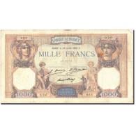 France, 1000 Francs, 1 000 F 1927-1940 ''Cérès Et Mercure'', 1928, 1928-07-24 - 1871-1952 Circulated During XXth