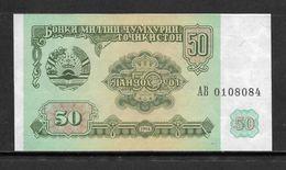 TAJIKISTAN 1994 50 RUBLES UNC BANKNOTE - Tajikistan