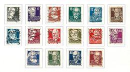 GERMANIA 1948 - Zona Sovietica - Scrittori Comunisti - 16 Valori - Mi:DD 212-27 - Zone Soviétique