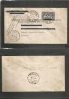 Liberia. 1936 (28 Febr) Harper Special Air Flight Out. Address Crossed Out For Return. Fkd Env. Inaugural Flight. - Liberia