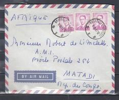 Brief Met Stempel Bruxelles-Brussel BXB Naar Matadi Afrika - 1953-1972 Lunettes