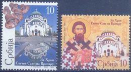 SRB 2008-ZZ18-9 KATEDRAL SAN SAVA, SERBIA, 1 X 2v, MNH - Serbie