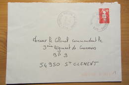 Bureau Postal Militaire 529 De SAINT WENDEL (Allemagne) - Postmark Collection (Covers)