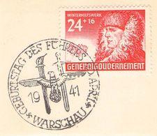 MiNr.60 ESST Warschau Auf Briefstück  Deutsches Reich Generalgouvernement - Besetzungen 1938-45