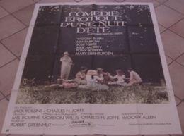 AFFICHE CINEMA ORIGINALE FILM COMEDIE EROTIQUE D'UNE NUIT D'ETE Woody ALLEN Mia FARROW José FERRER 1982 TBE - Posters