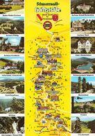 1 MAP Of Germany * 1 Ansichtskarte Mit Der Landkarte - Schwarzwald Hochstraße - Landkarten