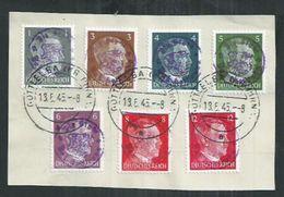 Allemagne. Timbres Hitler Surchargés  Bad Gottleuba - Used Stamps