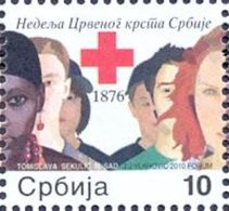 SRB 2010-ZZ35 RED CROSS, SERBIA, 1 X 1v, MNH - Serbie