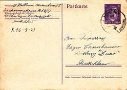 ENTIER POSTAL ALLEMAGNE 11-09-1943 Adolf Hitler 3° Reich WW2 - Hallouin à Duperray MUNCHEN Hauptstadt Der Bewegung Nazi - Duitsland