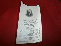 Vieux Papiers > Chromos & Images > Images Religieuses Madame Pollet Ille Et Vilaine : VITRE - Images Religieuses