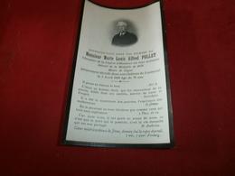 Vieux Papiers Chromos Images  Images Religieuses M. Marie Louis Alfred Pollet Décédé Dans Son Chateau Louiseval Mayenne - Images Religieuses