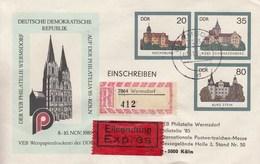 D U02/3b  Der VEB Philatelie Wermsdorf  Auf Der Philatelia`85, Köln - Privatumschläge - Gebraucht