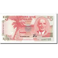 Billet, Malawi, 5 Kwacha, 1994, 1994-01-01, KM:24b, NEUF - Malawi