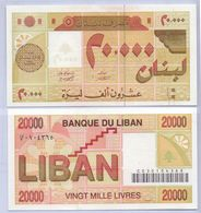 1994 Lebanon 20,000 Livres UNC (Shipping Is $ 5.55) - Lebanon