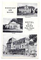 Mondorf Les Bains Hotel De La Gare Huss Reyter Propriétaire Dépendance Garage Bon état Non Circulée - Mondorf-les-Bains