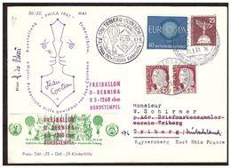 Phila 1961  JEAN COCTEAU  Lettre De KINDERHILFE TRIBERG Pour KAYSERSBERG Du 21.5.61. - [7] République Fédérale
