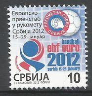 SRB 2012-ZZ46 EU HANDBALL, SERBIA, 1 X 1v, MNH - Serbie