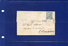 ##(ANT182)- 2-6-1864- Sinalunga(Siena)-  Cent 15  Su  Piego Privo Di Testo  Per  Chiusdino (Siena) - Marcophilia