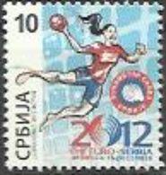 SRB 2012-ZZ55 EU HANDBALL, SERBIA, 1 X 1v, MNH - Serbie