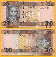 South Sudan 20 Pounds P-13a 2015 UNC - Soudan Du Sud