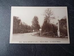 Cpa 91 Foret De Senart Route De Melun La Croix De Villeroy - Autres Communes