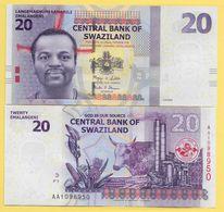 Swaziland 20 Emalangeni P-37a 2010 UNC - Swaziland
