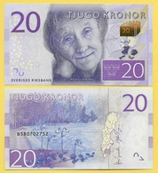 Sweden 20 Kronor P-69 2015 UNC - Sweden