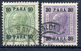 AUSTRIA PO IN LEVANT 1906-07 Changes Of Colour. Used.  Michel 51-52 - Eastern Austria