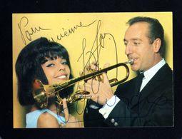 Georges Jouvin     Trompette D'Or     Dédicacée ...  ( 14 X 10 Cm ) Pointes De Rousseur Au Dos . - Autographs
