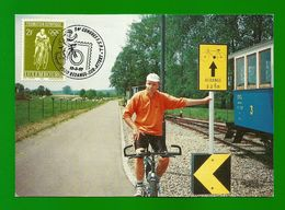 Luxemburg  1968  Mi.Nr. 767 + 1082 , Piste Cyclable - Maximum Card - 54' Congres F.S.P.L Redange-sur-Attert 15-3-97 - Maximumkarten