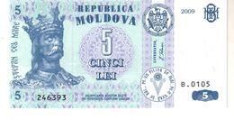 Moldova P.9 5 Leu 2009 Unc - Moldavia