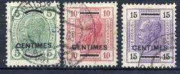 AUSTRIA PO In CRETE ( Kreta)  1907 Franz Joseph I Changes Of Colour And Design Used.  Michel 14-16 - Levant Autrichien