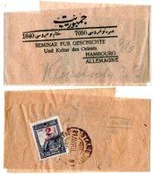 Türkei 1929, 2 1/2 / 5 Ghr. Rücks. Auf Streifband V. Stamboul N. Deutschland - Turkey