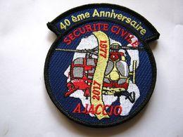 ECUSSON DRAGON CORSE SAPEURS POMPIERS SECURITE CIVILE AJACCIO 40ème ANNIVERSAIRE (SUR VELCROS) ETAT EXCELLENT - Firemen