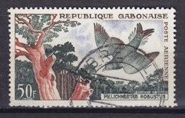 Gabon 1961 Mi. 166     50 Fr Bird Vogel Oiseau Leierschwanz-Honiganzeiger - Gabun (1960-...)