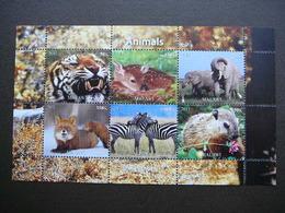 Mammals - Tigers Elephants Fox Zebras... # 2011 MNH S/s # M(1882) Big Cats (cats Of Prey) Animals - Timbres