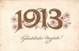 Carte Allemande - Glückliches Neujahr 1913 - Nouvel An - Alemania