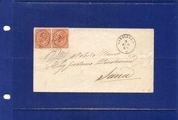 ##(ANT182)- 9-5-1865-Sinalunga(Siena)-annullo Numerale A Punti(2189) Su  Busta Per Siena - Marcophilia