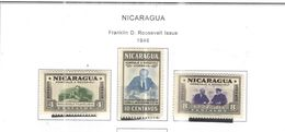 Nicaragua PO 1946 Roosvelt   Scott.695/697 Nuovi On Scott.Album See Scans - Nicaragua