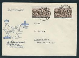 MiNr. 426 (2) MeF Auf Brief Von HALBERSTADT 01.05.54 -19 Nach ASCHERSLEBEN - [6] República Democrática