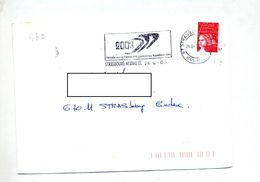 Lettre Flamme Strasbourg Annee Handicap - Postmark Collection (Covers)