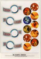 PIA - CANADA - 1994 : Francobolli Augurali Emessi In Carnet   - (Yv 1350-51 X 2) - 1952-.... Reign Of Elizabeth II