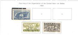 Nicaragua PO 1953 Fond.Org.Stati America  Scott.740+743+744+ Usato On Scott.Album See Scans - Nicaragua