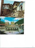 PLOVDIV ANCIENNE VILLE ET MONASTERE DE RILA  LOT DE 2 CARTES  BULGARIE - Bulgaria