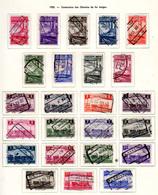 1935    100° Des Chemins De Fer Belge, CF 178 / 201 Ob, Cote 110 €, - Railway