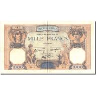 France, 1000 Francs, 1 000 F 1927-1940 ''Cérès Et Mercure'', 1939, 1939-01-26 - 1871-1952 Circulated During XXth