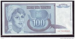 1992 - Yugoslavia - 100 DINARA Extra - Jugoslavia