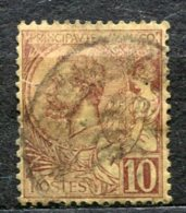 5994  - MONACO  N°14 °   10c  Lilas-brun Sur Jaune  Prince  Albert   Ier        B/TB - Monaco